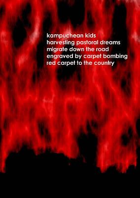 Digital Art - Kampuchean Kids by Steve Mangan