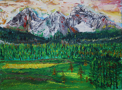 Banff Painting - Kananaskis Beauty by James Bryron Love