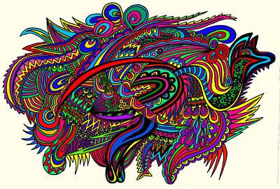 Kangadoodle Art Print