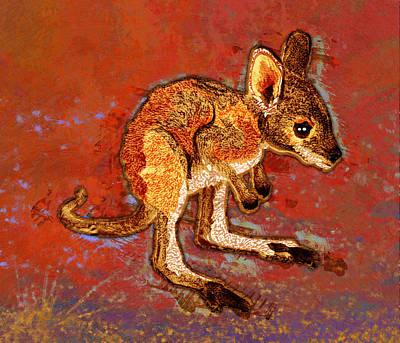 Kangaroo Digital Art - Kangaroo Joey by Mary Ogle