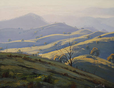 Mountain Valley Painting - Kanimbla Valley Morning by Graham Gercken