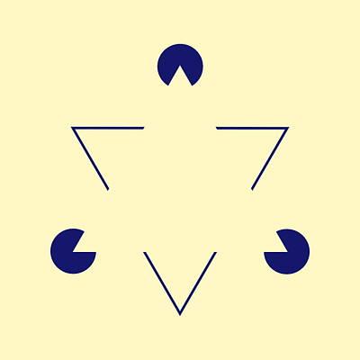 Ambiguous Photograph - Kanizsa Triangle by