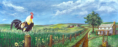 Bigsky Painting - Kansas Past by Jim Miller