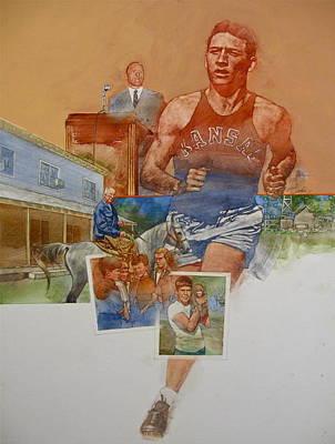 Painting - Kansas Track Runner by Cliff Spohn