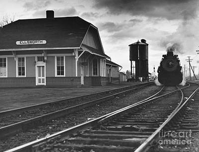 Photograph - Kansas Train Station by Myron Wood and Photo Researchers