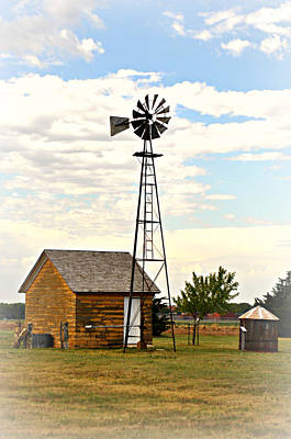 Kansas Windmill 1 Art Print by Marty Koch