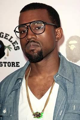 Kanye Photograph - Kanye West At Arrivals For Bapestore by Everett