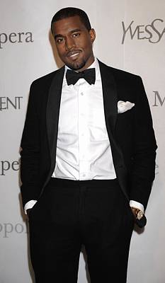 Metropolitan Opera House At Lincoln Center Photograph - Kanye West At Arrivals For The by Everett