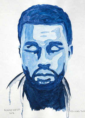 Jay Z Painting - Kanye West by Michael Ringwalt
