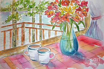 Painting - Kapasiwin Coffee by Pat Katz