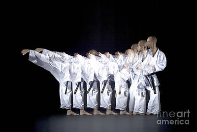 Stroboscopic Images Photograph - Karate Expert by Ted Kinsman