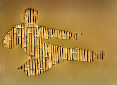 Marshal Arts Photograph - Karate Man Bamboo by Yury Malkov