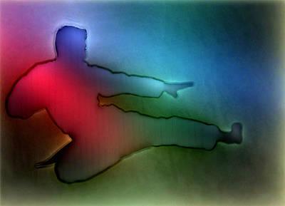 Marshal Arts Photograph - Karate Man Lights by Yury Malkov
