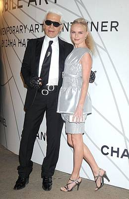 Karl Lagerfeld, Kate Bosworth Wearing Art Print by Everett