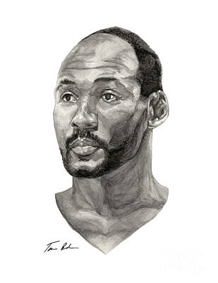 Utah Jazz Painting - Karl Malone by Tamir Barkan