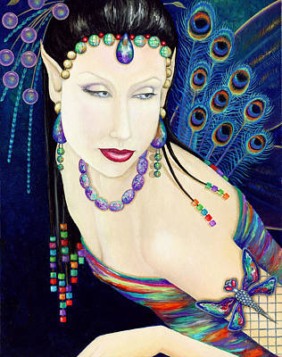 Fairy Painting - Karma Fairy by BK Lusk