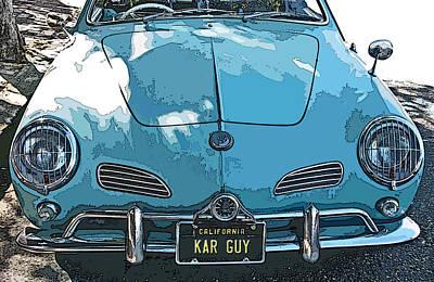 Karmann Ghia Front Study Art Print by Samuel Sheats