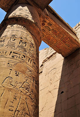 Archaeology Photograph - Karnak Temple Columns by Michelle McMahon