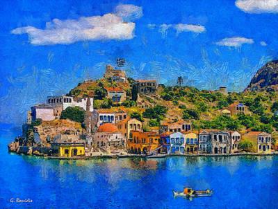 Rossidis Painting - Kastelorizo Island by George Rossidis
