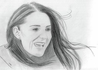 Kate Middleton - Duchess Of Cambridge Art Print by Pat Moore