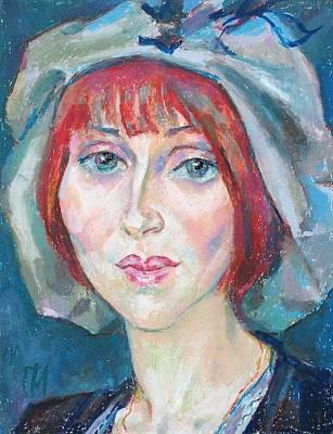 Woman Painting - Katerina Goncharova by Leonid Petrushin