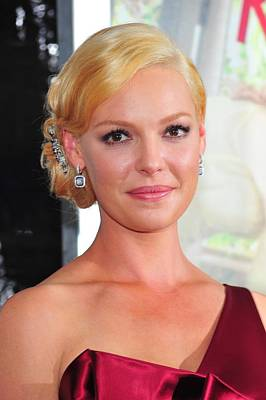 Hair Bun Photograph - Katherine Heigl At Arrivals For Life As by Everett