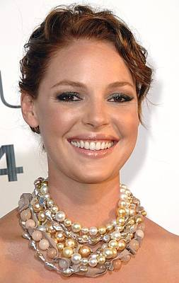 Statement Necklace Photograph - Katherine Heigl Wearing A Joan Hornig by Everett