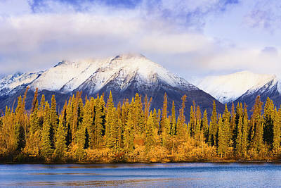 Kathleen Lake And Mountains At Sunrise Art Print by Yves Marcoux