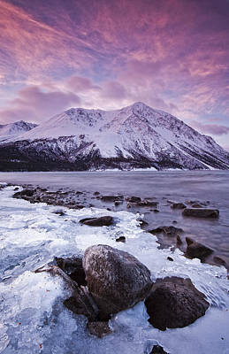 Kathleen Photograph - Kathleen Lake At Sunrise, Kluane by Robert Postma