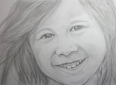 Pencil Portrait Drawing - Katie by Daniel Young