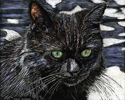 Painting - Katie The Cat by Robert Goudreau