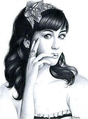 Katy Perry Art Print by Crystal Rosene