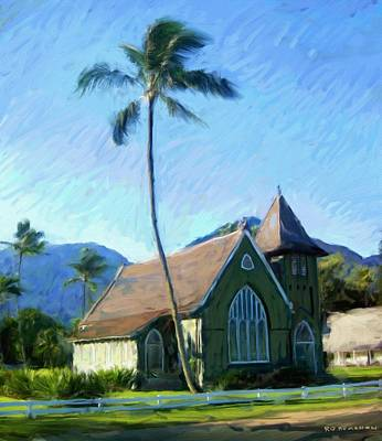 Painting - Kauai Church  by RG McMahon