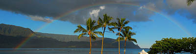 Photograph - Kauai Rainbow Panorama by Lynn Bauer