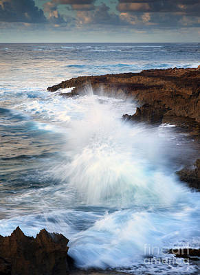 Kauai Sea Explosion Art Print by Mike  Dawson