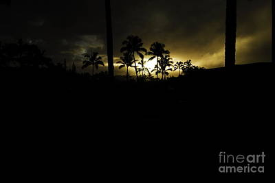 Kauai Storm Sunset Art Print