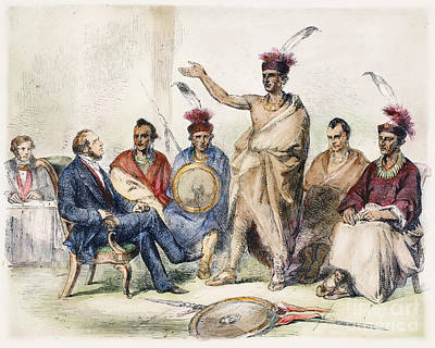 Kaw Delegation, 1857 Art Print by Granger