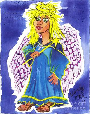 Painting - Kay Ottick Angel From My Novel Series by Windy Mountain