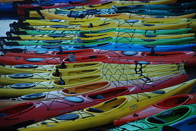 Photograph - Kayak Row by Richard Bryce and Family