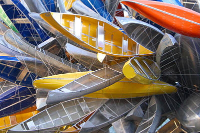 Photograph - Kayak Sculpture by Sharon I Williams