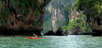 Photograph - Kayaking In Thailand by Bob Christopher