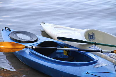 Photograph - Kayaks 1 by Rebecca Powers