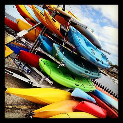 Photograph - Kayaks For Rent In Rockport by Matthew Green