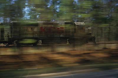 Freight Train Photograph - Kcs Racing Train by Susan  Benson