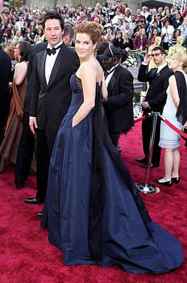 Keanu Reeves, Sandra Bullock Wearing An Art Print