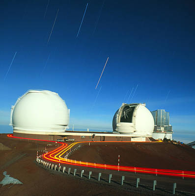 Keck Photograph - Keck I And II Observatories On Mauna Kea, Hawaii by David Nunuk