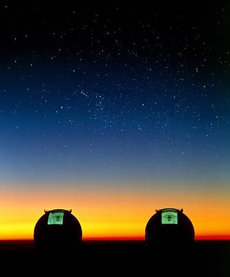 Mauna Kea Photograph - Keck I And II Telescopes On Mauna Kea, Hawaii by David Nunuk