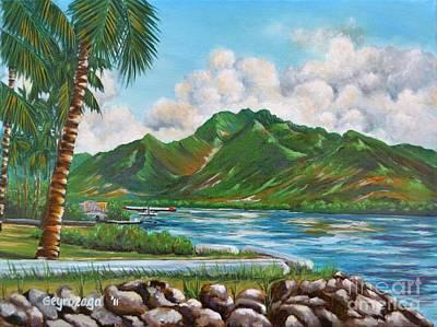 Painting - Keehi Lagoon by Larry Geyrozaga