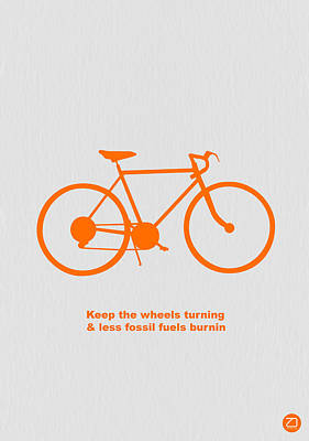 Biking Photograph - Keep The Wheels Turning by Naxart Studio