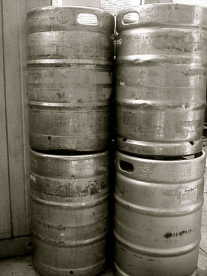 Photograph - Kegs by Amber Hennessey